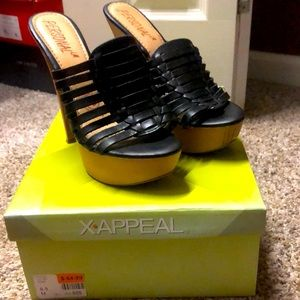 Personal LM Heels -Black with tan bottoms